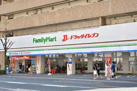 ファミリーマート+ドラッグイレブン別府店:徒歩12分(903m)