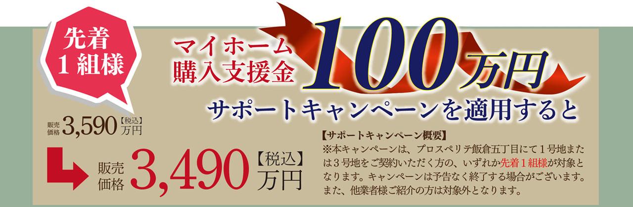 マイホーム購入支援金100万円